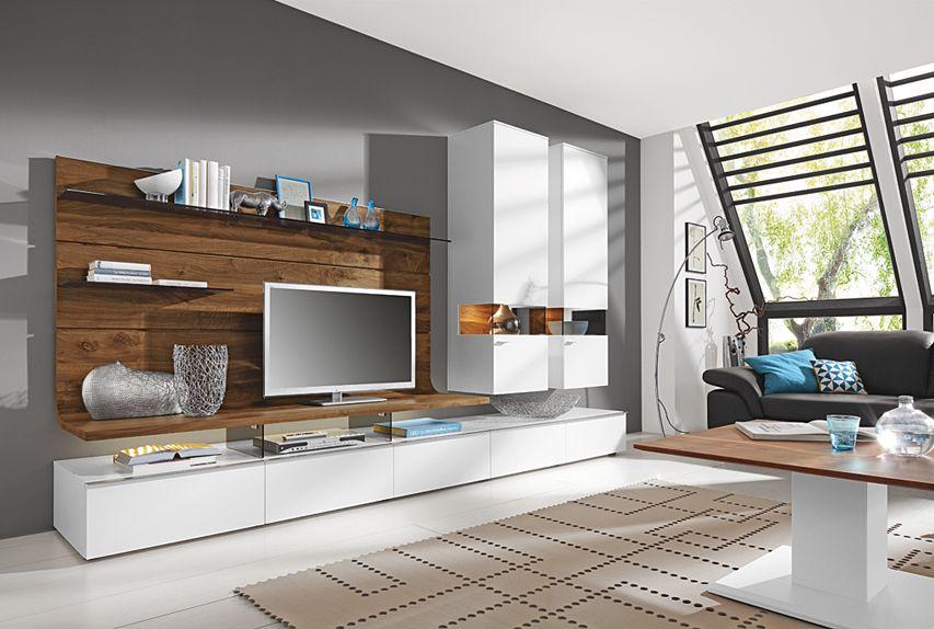 Wohnwand von Gwinner - Wohndesign.  Wohnzimmer ...
