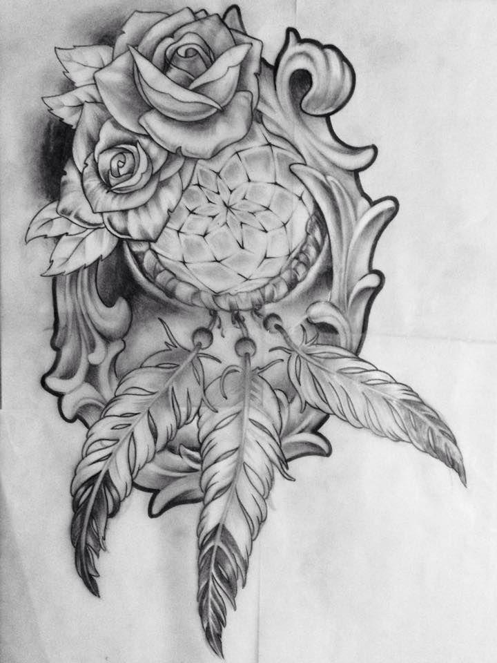 Acchiappasogni idea tattoo realizzata a mano libera da for Acchiappasogni disegno