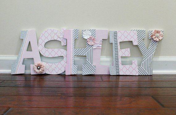 Deluxe Wooden Nursery Letters Baby Decor