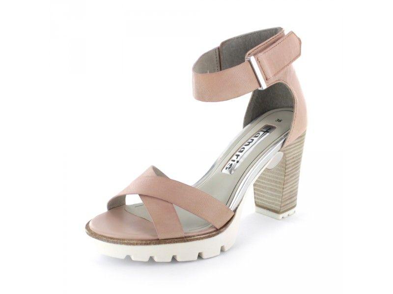 tamaris trendy sandalette mit wei er sohle luftig. Black Bedroom Furniture Sets. Home Design Ideas
