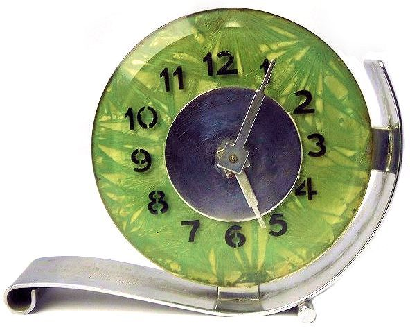 Art Deco modernist clock More