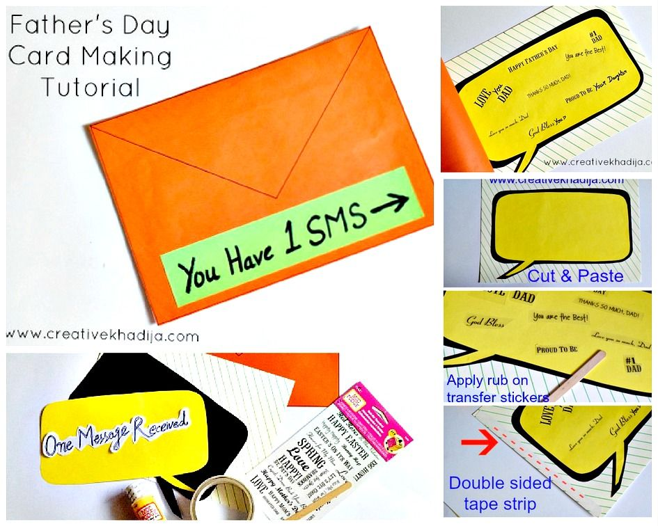 Easy Card Making Ideas For Kids Part - 44: Best And Easy Card Making Ideas-tutorial For Fatheru0027s Day Art By Creative  Khadija Blogger