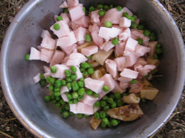 Winter treats - feed for chickens - leftover fat from butcher season