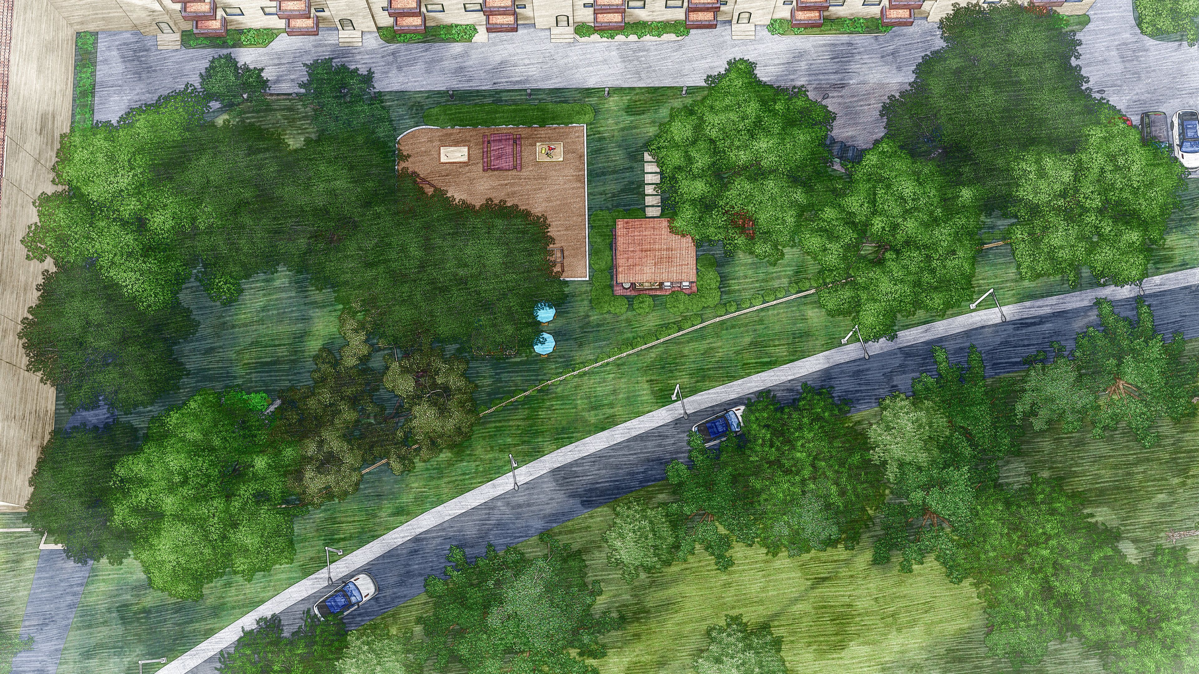 Landscape Design And Visualization Of A Park 3d Model