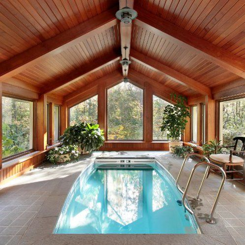 7 Big Ideas For Small Pool Houses Pool Pricer Indoor Pool House Small Indoor Pool Indoor Swimming Pool Design