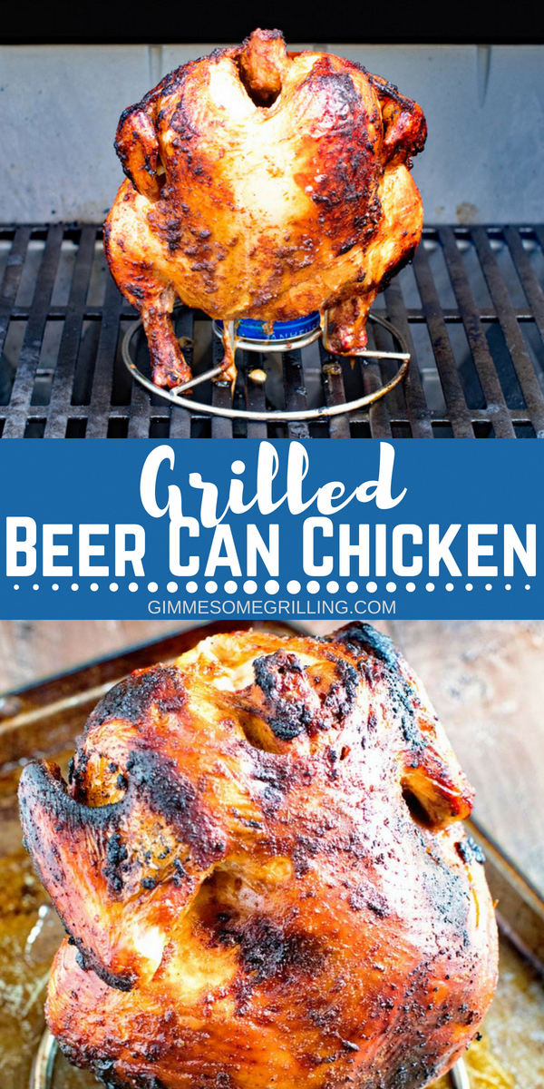 This Delicious Juicy Beer Can Chicken On Your Grill Is So Easy Plus It S Great To Make On The W Beer Can Chicken Can Chicken Recipes Grilled Chicken Recipes