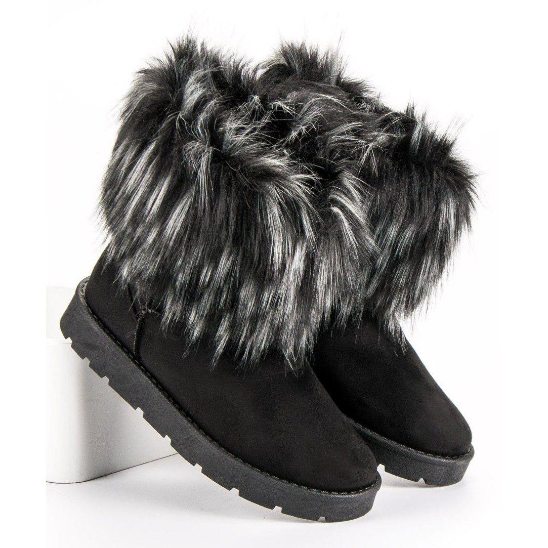 Queentina Botki Z Futerkiem Czarne Boots Sorel Winter Boot Shoes