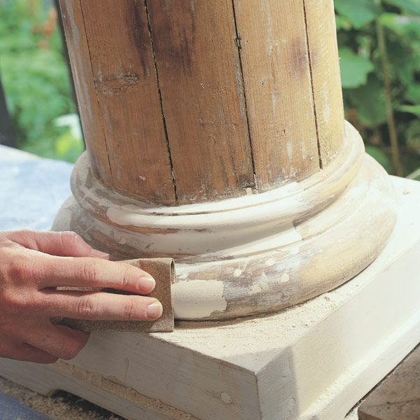Epoxy is the perfect material to make permanent repairs of rotting window sills, door jambs and exterior molding that are difficult to remove and expensive to replace. Epoxy is easy to handle too. You mix it like cookie dough, mold it like modeling clay and, when it hardens, you carve and sand it just like wood. It sticks like crazy and is formulated to flex and move with the wood, so it won't crack and fall out like some wood fillers.