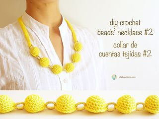 Crochet beads necklace#2/ Collar cuentas tejidas#2 by ChabeGS