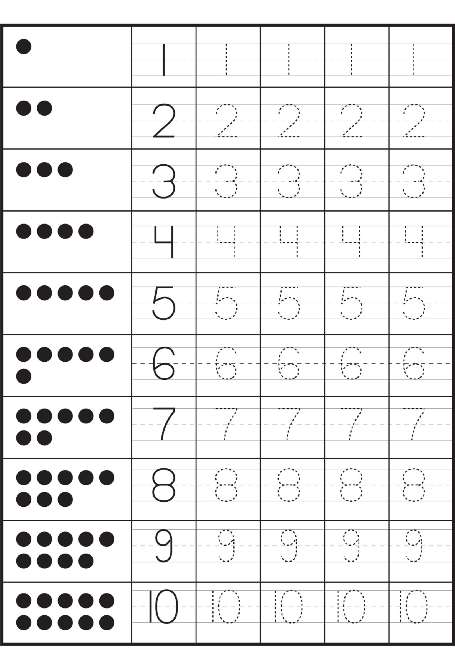 Writing Numbers Worksheets Kindergarten - 1000 ideas about number ...