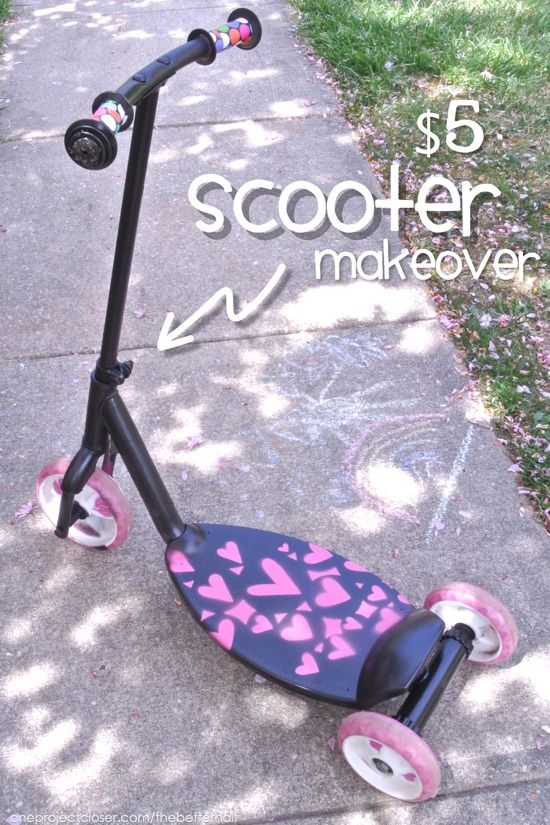 $5 Spray Paint Scooter Makeover from One Project Closer | The Best ...