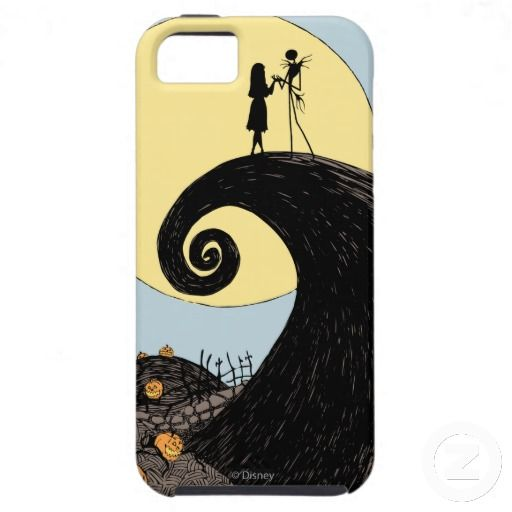 JACK AND SALLY IN THE MOON iphone case