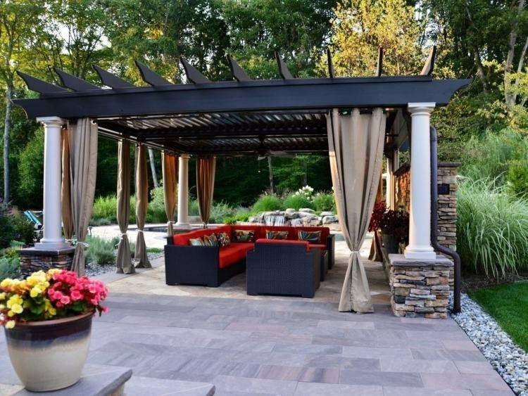 pergolas de madera y piedra Terrazas Pinterest Porch