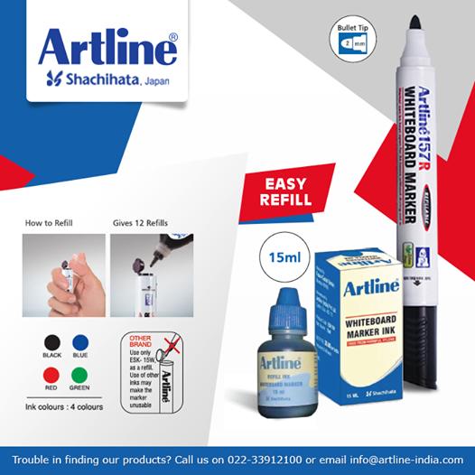 Artline India Facebook Whiteboard Marker Markers Ink Color