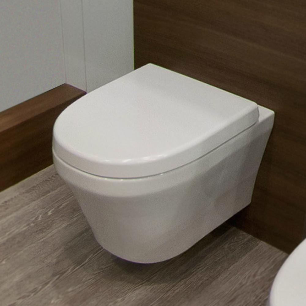 Toronto Modern Round Wall Hung Toilet Inc. Soft Close Seat ...