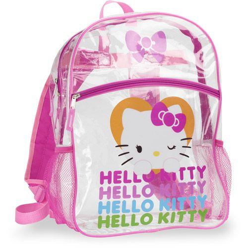 Hello Kitty In Green Preschool Backpack Plus FREE Small Bag
