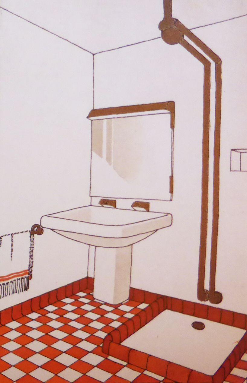 Dessin Salle De Bain etienne kohlmann , salle de bain, 1928 | salle de bain