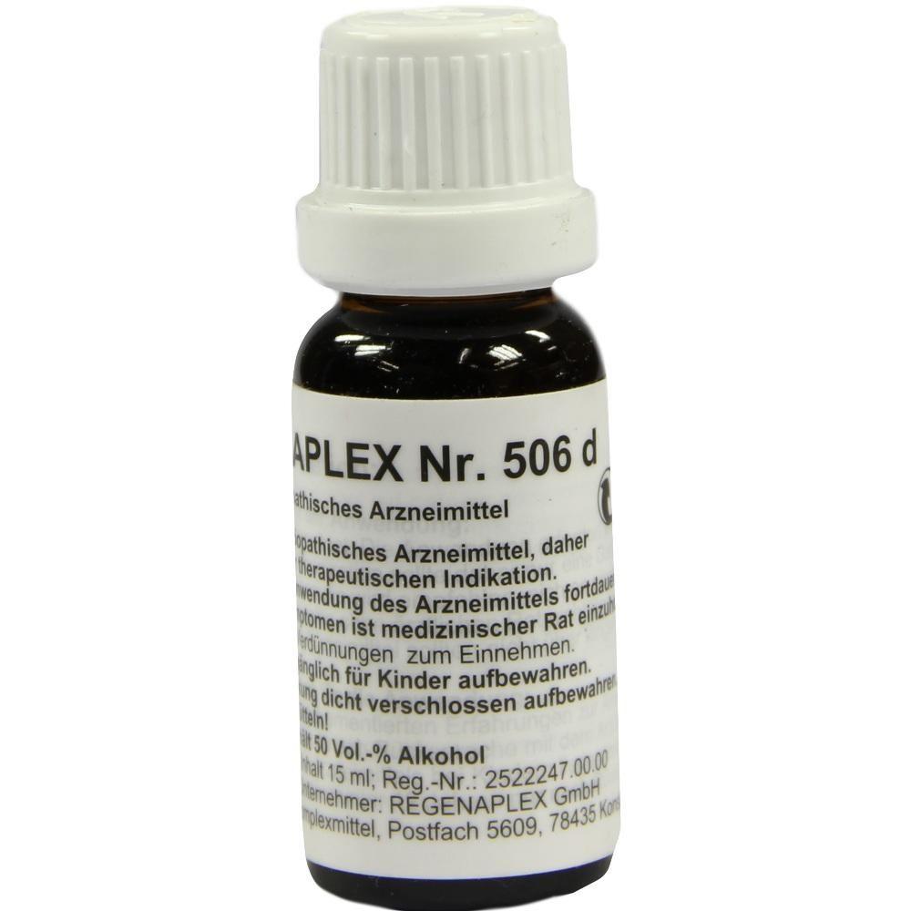 REGENAPLEX Nr.506 d Tropfen:   Packungsinhalt: 15 ml Tropfen PZN: 02643877 Hersteller: REGENAPLEX GmbH Preis: 7,69 EUR inkl. 19 % MwSt.…
