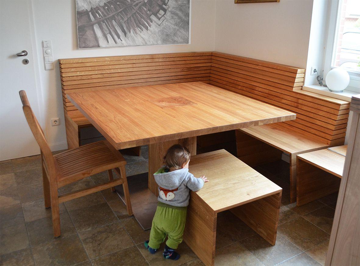 Eckbank in Eiche  Eckbank küche, Sitzbank küche, Esszimmer möbel