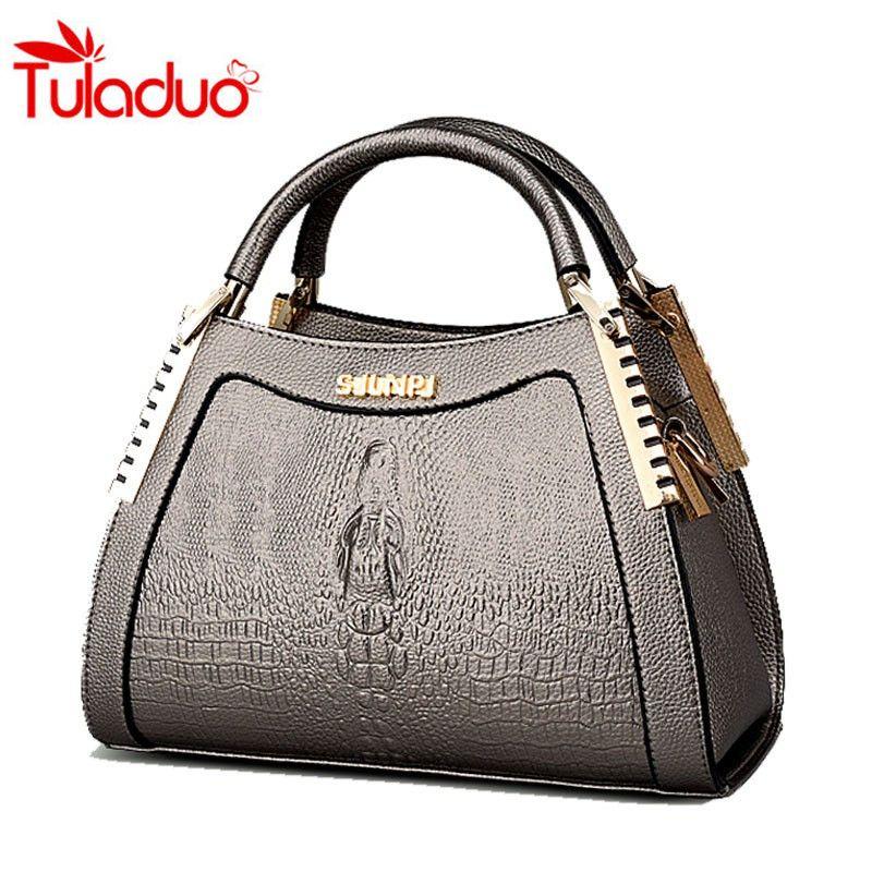 ad2fc5283245 2016 New Winter Ladies Messenger Handbags Crocodile Pattern Handbags Women  Bags Fashion Wild Middle-aged. Fashion HandbagsLuxury  HandbagsCrocodileShoulder ...