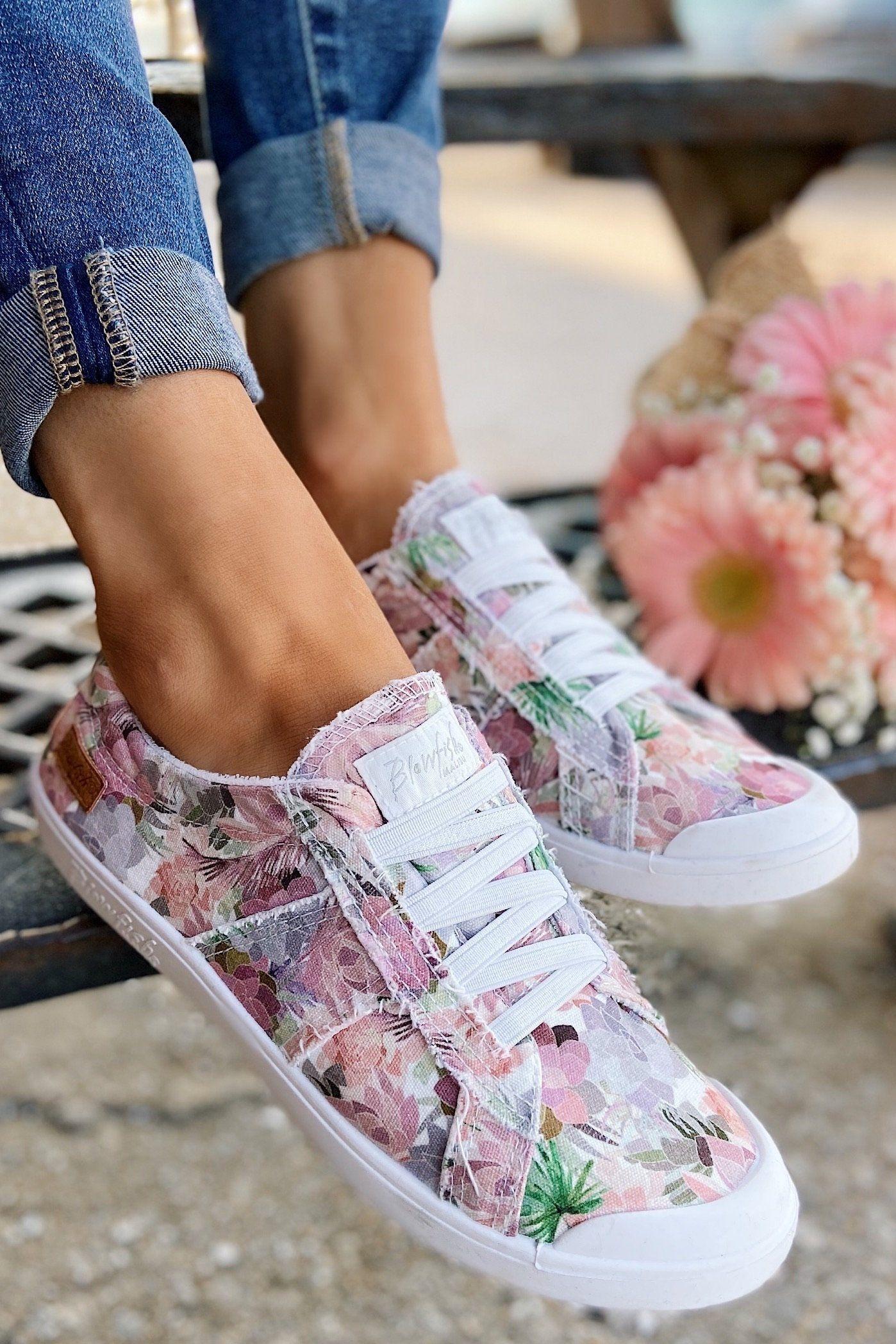 Blowfish Vex Sneakers- Off White Floral