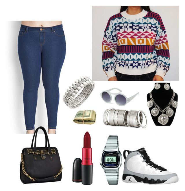 """""""Winter Fashion - ImaniFashions"""" by imanifashions ❤ liked on Polyvore featuring French Connection, Retrò, Forever 21, Cyrus, Casio, H&M and MAC Cosmetics"""