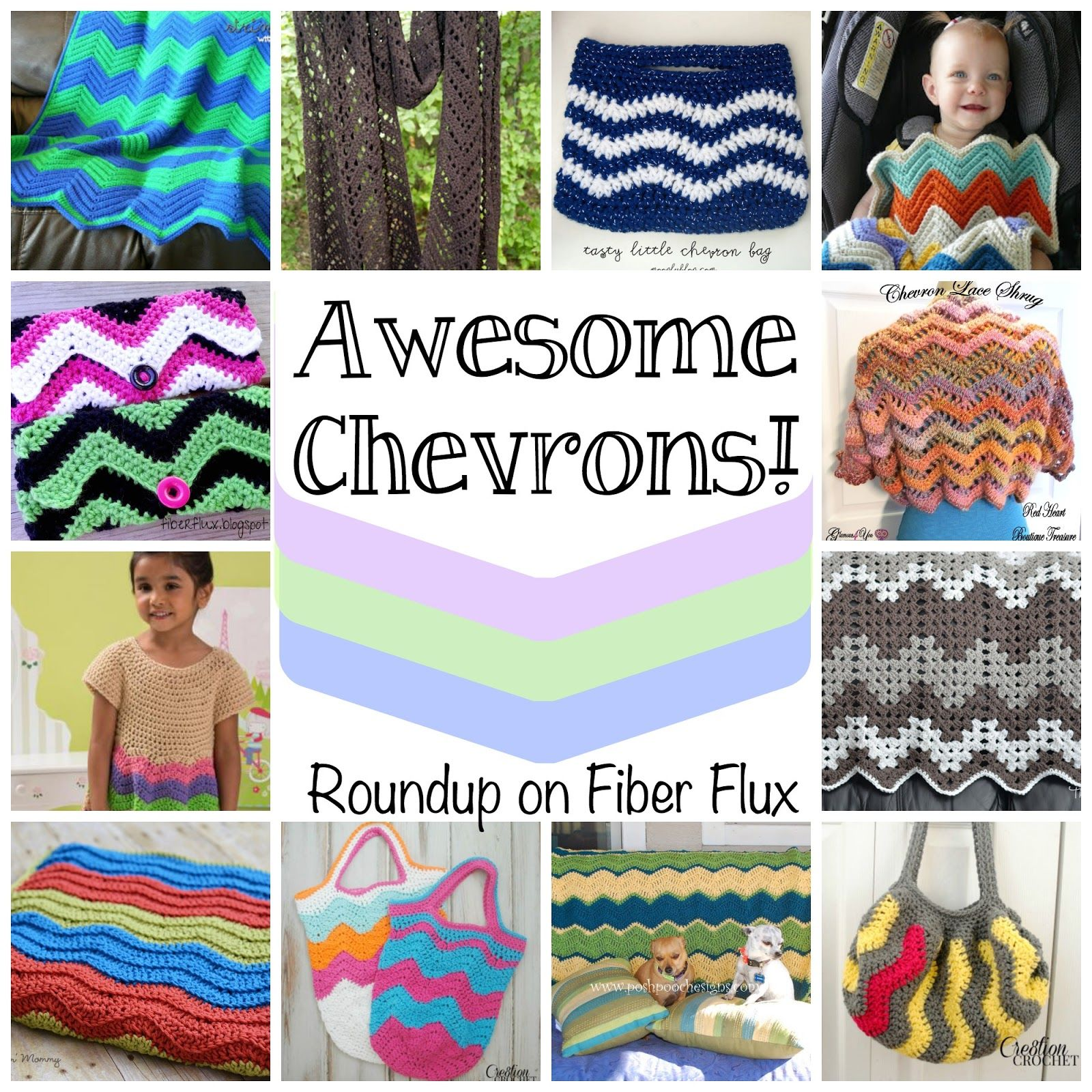Awesome Chevrons!  Roundup on Fiber Flux
