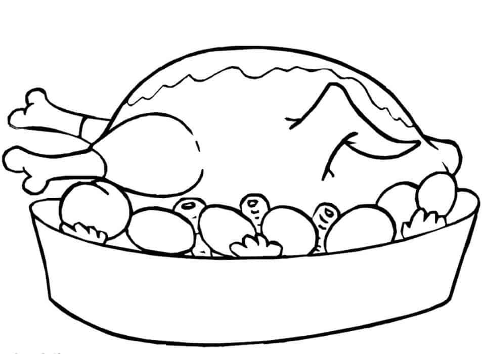 Printable Turkey Coloring Pages For Kids In 2020 Chicken