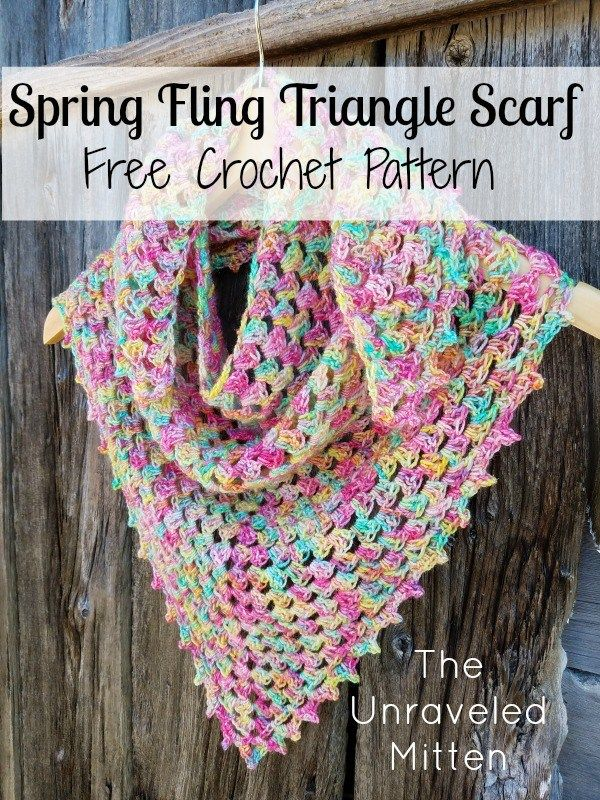 Spring Fling Triangle Scarf A Free Crochet Pattern Crochet