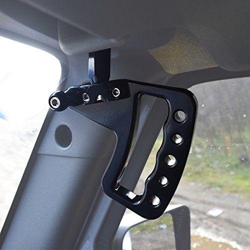 Front Black Aluminum Grab Handles For Jeep Wrangler JK JKU UnlimitedFit : Jeep  Wrangler JK 2007
