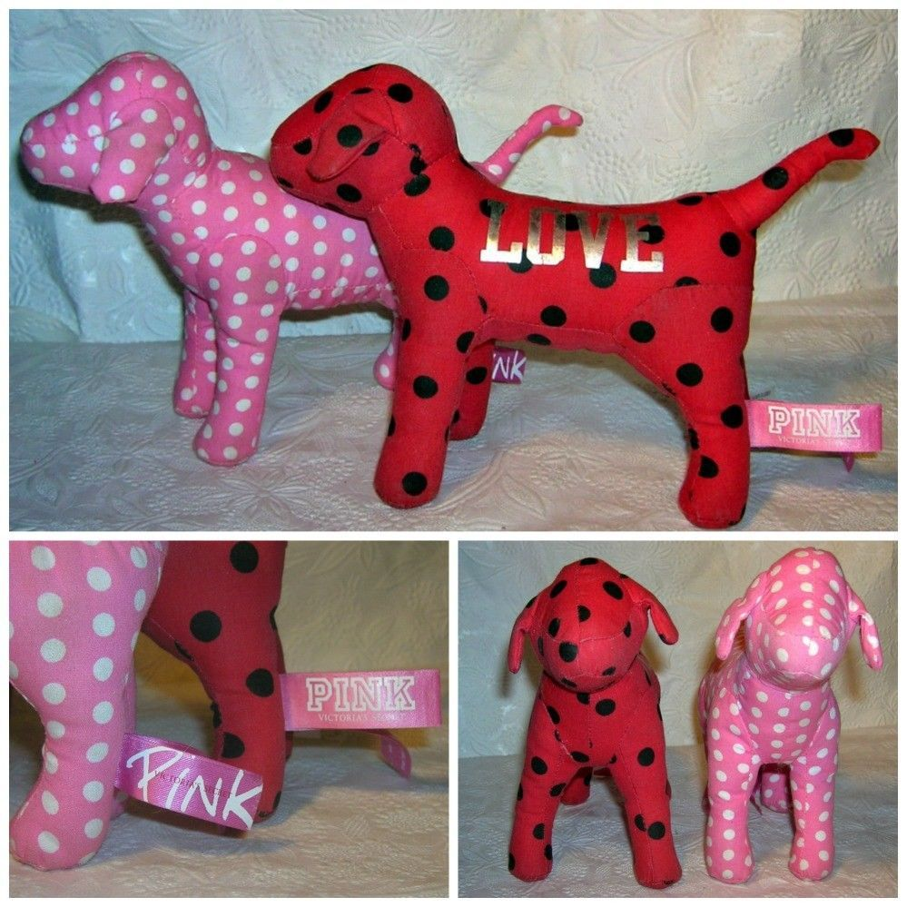 Victoria S Secret Pink Dogs Pink And White And Red And White Polka
