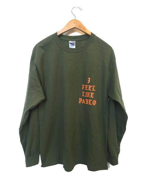 Rare Kanye West Que J Ai Envie De Pablo Par Undergroundmarketco Long Sleeve Shirts Shirt Designs Shirts