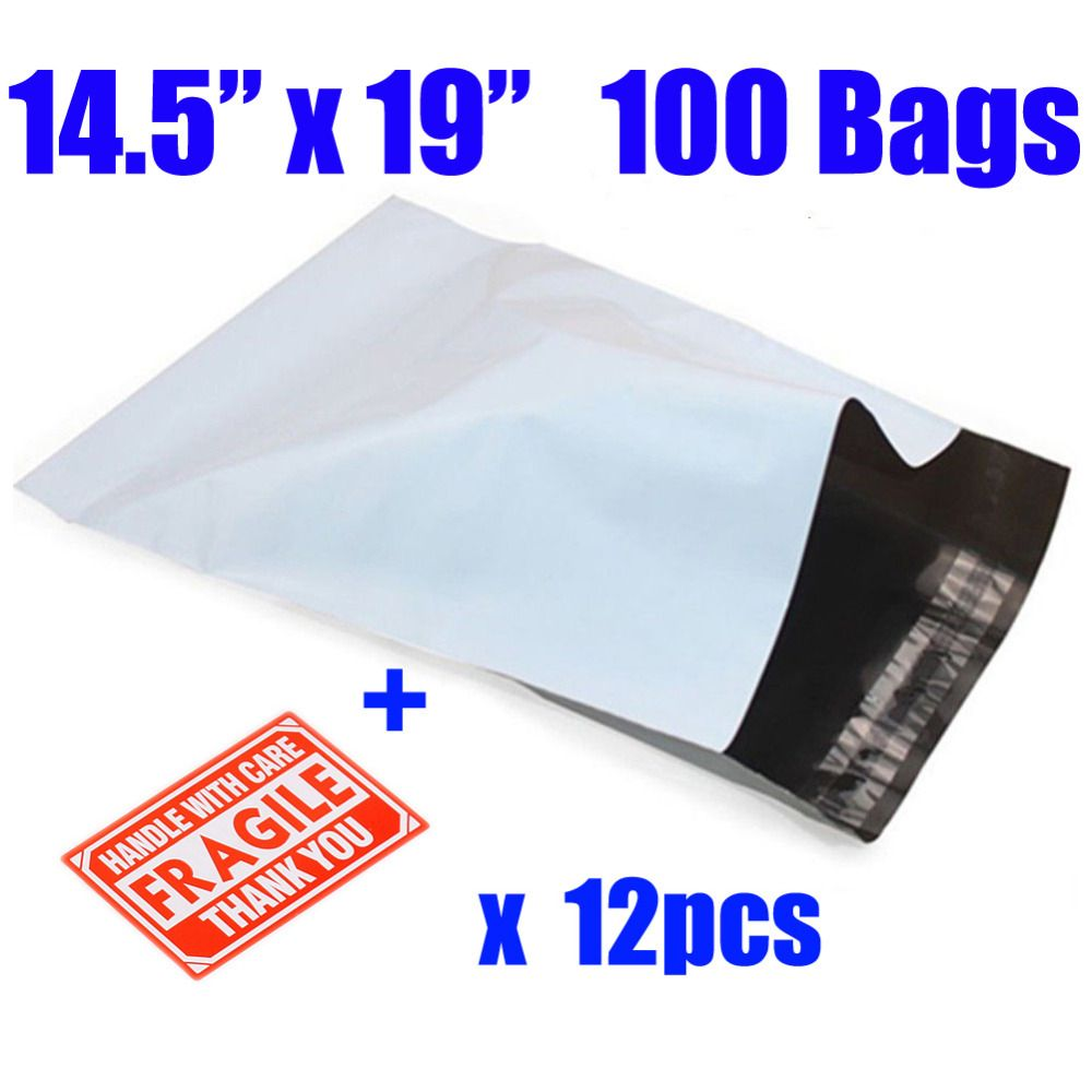 100Pcs 38*48cm Big Packaging Shipping Envelope Bag Poly Mailer Plastic Envelopes Mailing Bags Self-seal Adhesive Courier bags