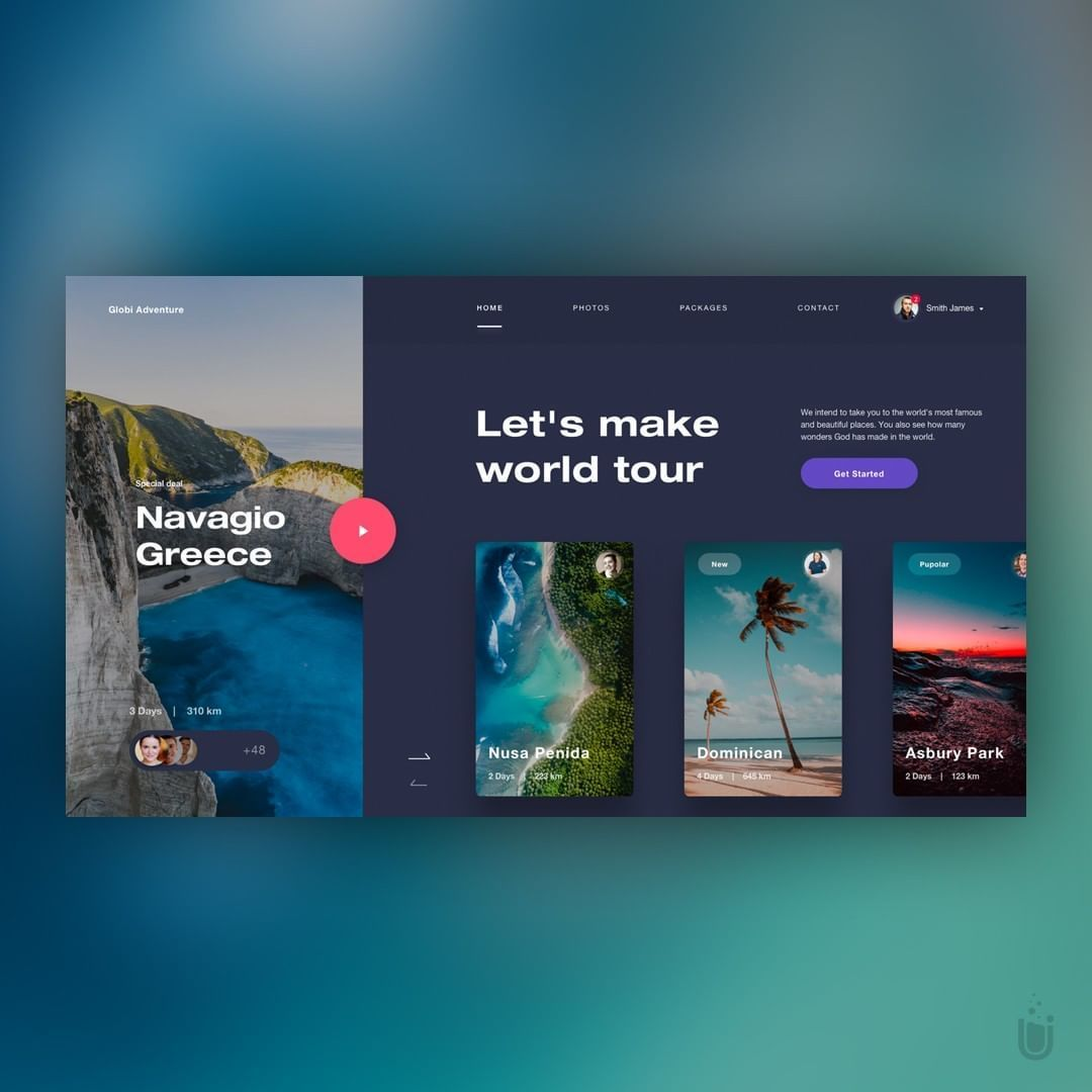 "Web Design Inspiration on Instagram: ""Globi Adventure - Design by: @de"