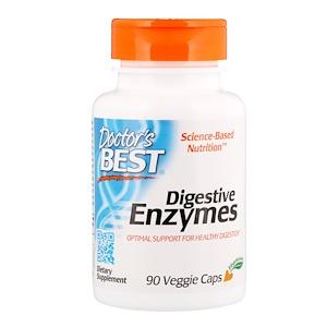 Doctor S Best Digestive Enzymes 90 Veggie Caps 栄養 グルカン グルテンフリー