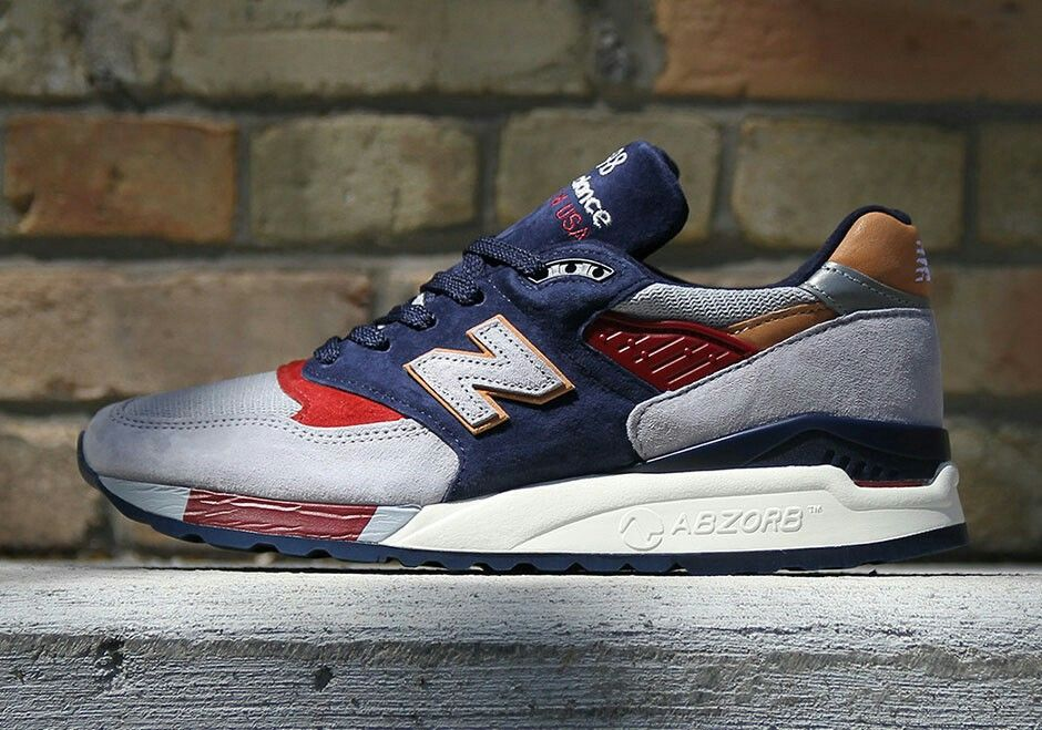 New Balance 410, Navy with Red & Grey (avec images