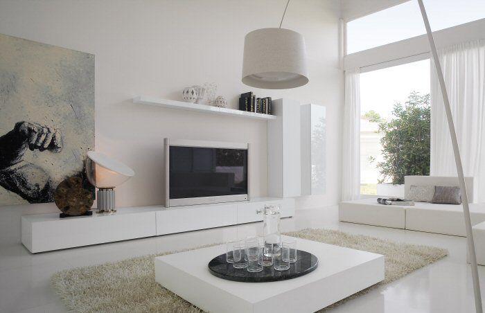 salon-blancjpg (700×452) idée deco Pinterest Living rooms and