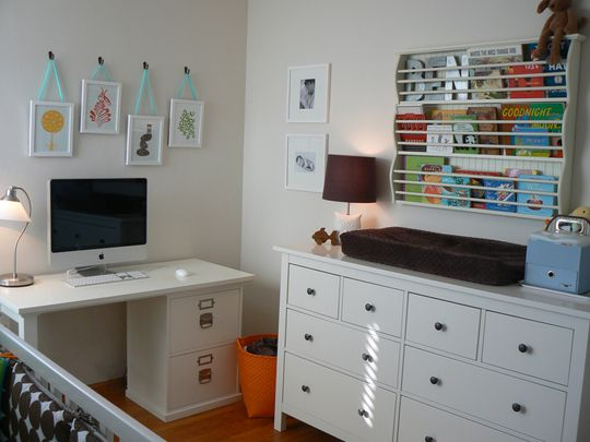 Nursery Office Combo On Pinterest Small Baby Rooms