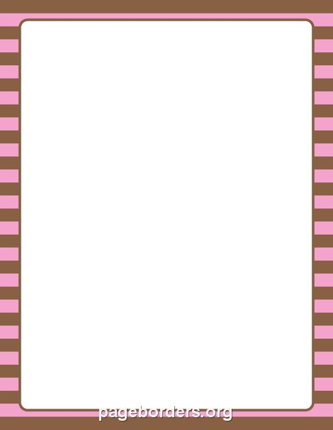 printable pink and brown striped border use the border in microsoft