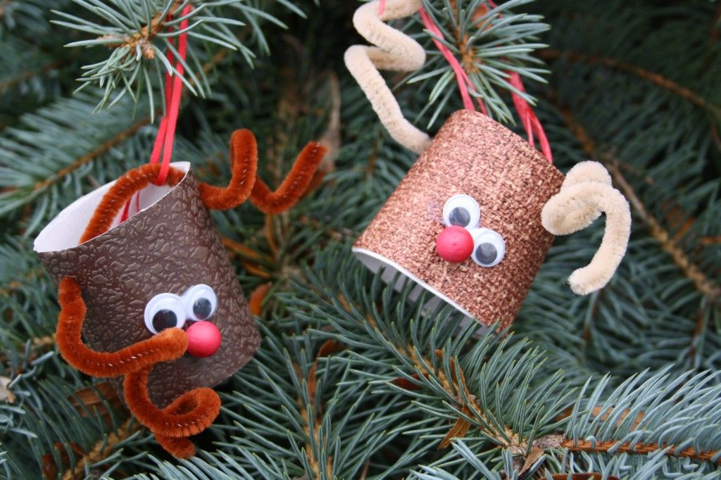 Toilet Roll Reindeer Christmas Ornaments Adornos navideos
