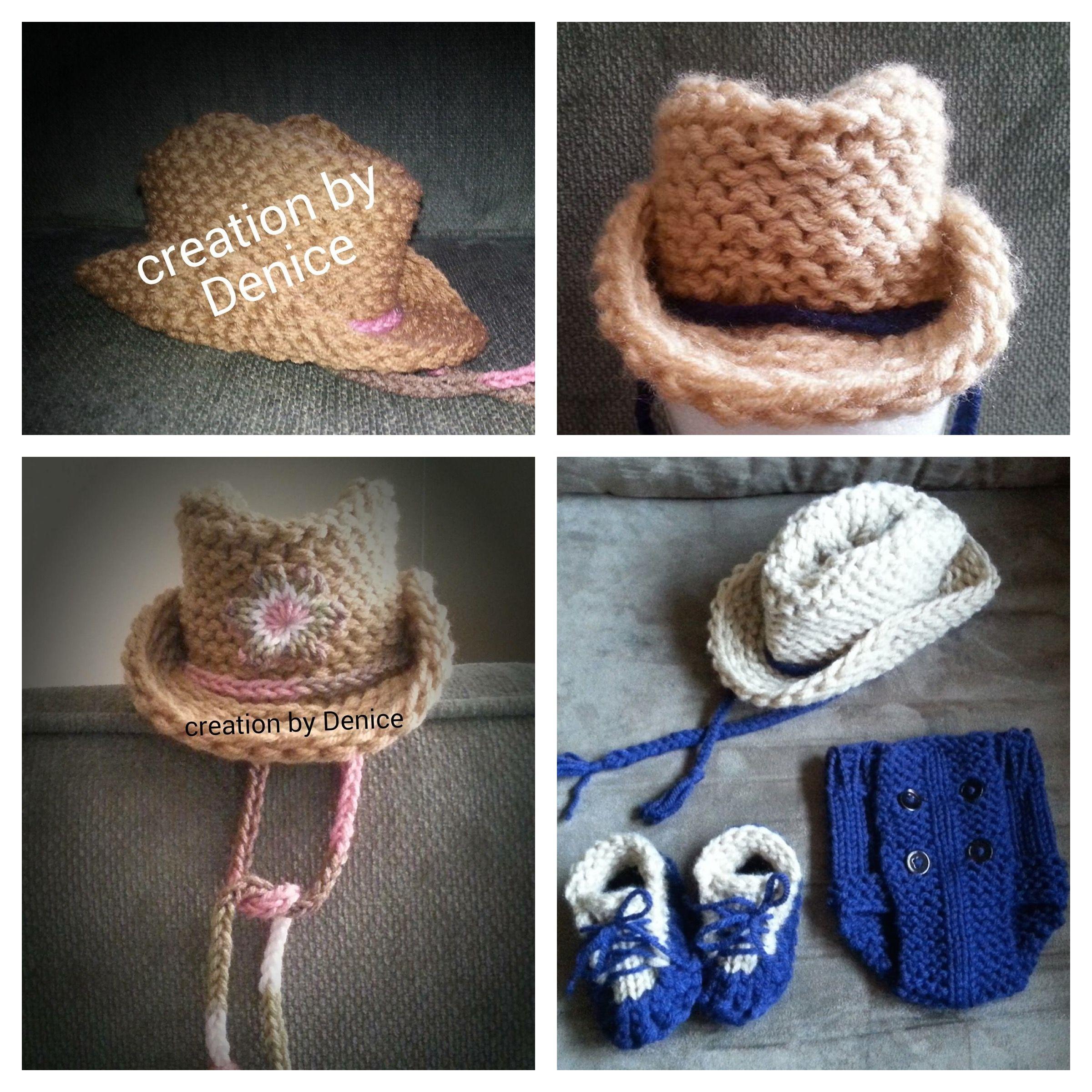 Loom Knit Cowboy Hat | Cowboys, Loom knitting and Knit flowers