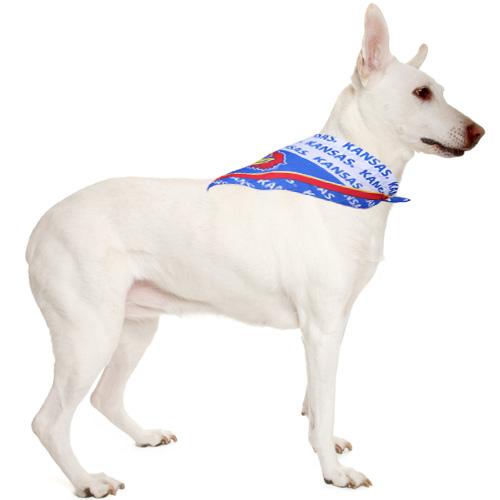 Kansas Jayhawks Large Pet Collar Bandana