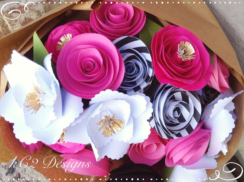 Paper flowers kate spade inspired bridal bouquet centerpiece paper flowers kate spade inspired bridal bouquet centerpiece pink paper flowers izmirmasajfo