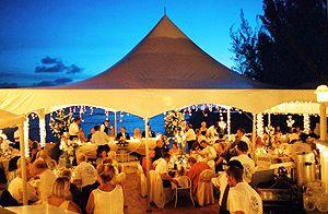 A Beautifully Lit Tent Wedding Beachbeach Weddingswedding Honeymoonsisland Beachisland Weddingsgrand Caymancayman Islandswedding Plannerswedding Venues