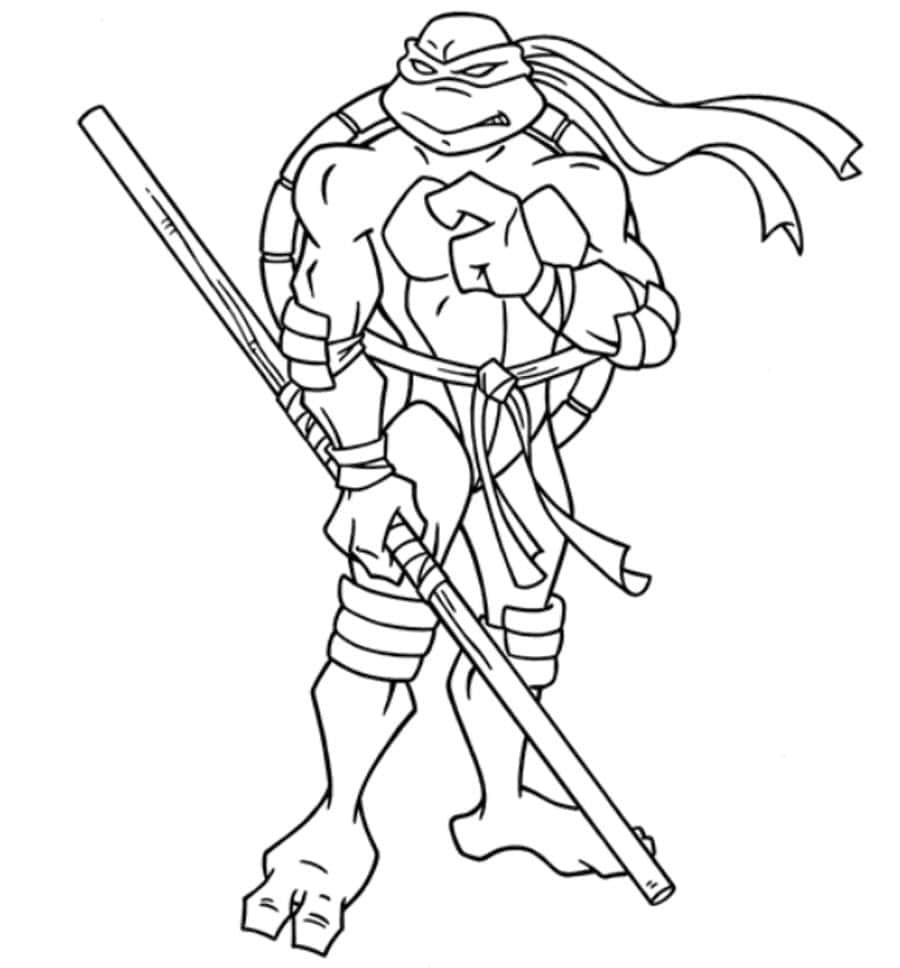 Teenage Mutant Ninja Turtles Leonardo Coloring Pages With Images