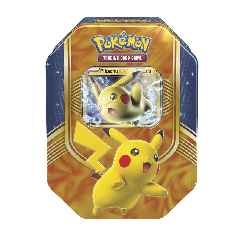 pok mon battle heart tin includes a pikachu ex foil card. Black Bedroom Furniture Sets. Home Design Ideas