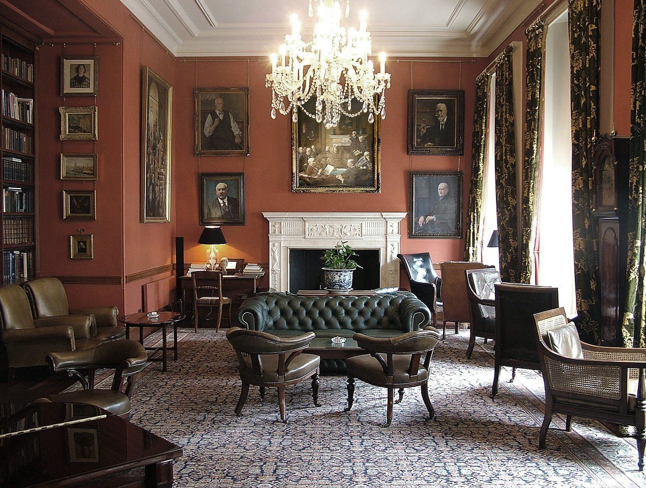 The drawing room at the arts club london places for Drawing and dining room designs