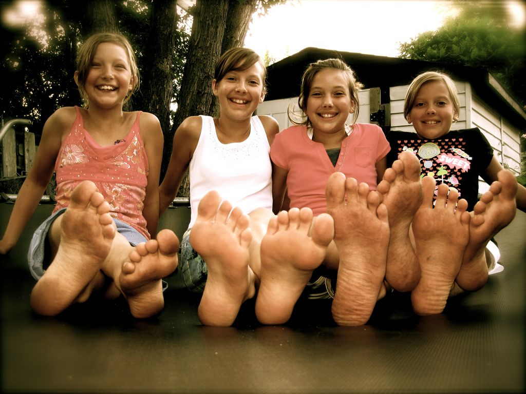 group of girl toes