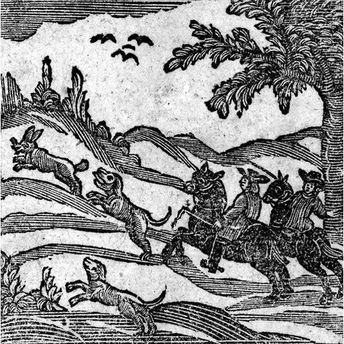 """Photo of Poster """"View of a Hunting Scene, from 'ABook of Roxburghe Ballads'"""", Grafikdruck East Urban Home Größe: 70cm H x 100cm B x 0,2cm T"""