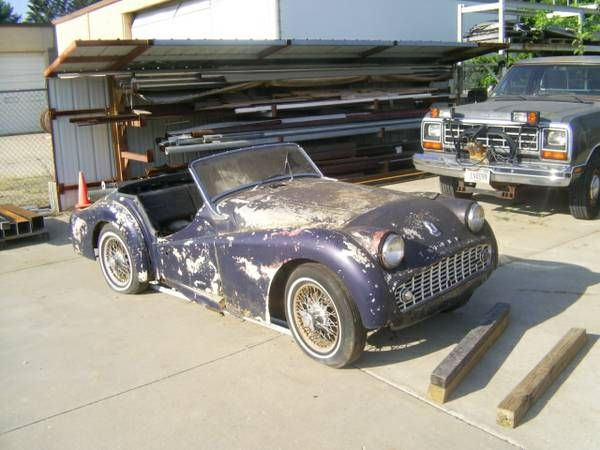 1962 Triumph TR3-B for restoration $1,500 - Chicago area